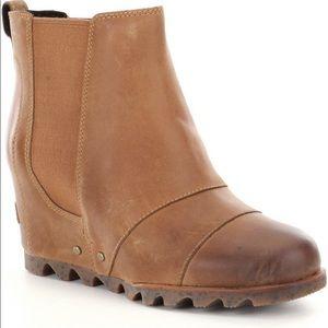 8108e7cae689 Sorel Shoes - Sorel Lea Wedge Bootie in Elk Curry New in Box